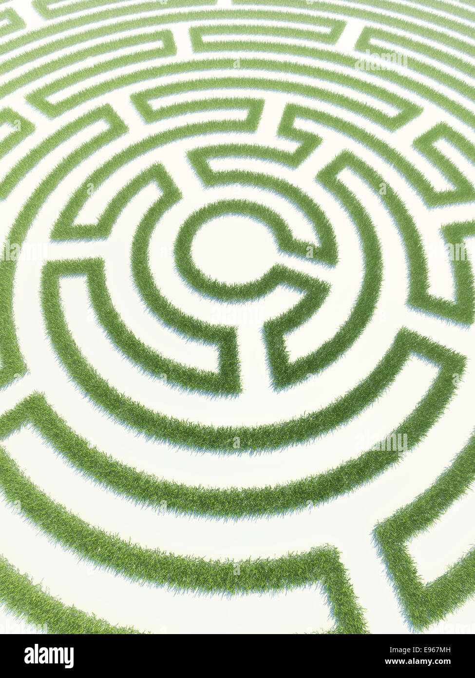 Labyrinth made out of grass - Stock Image