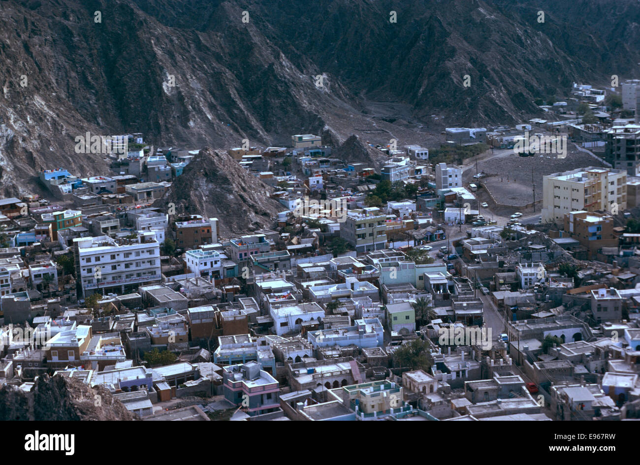 Aerial view over Ruwi-Muscat, Oman, 1975 - Stock Image
