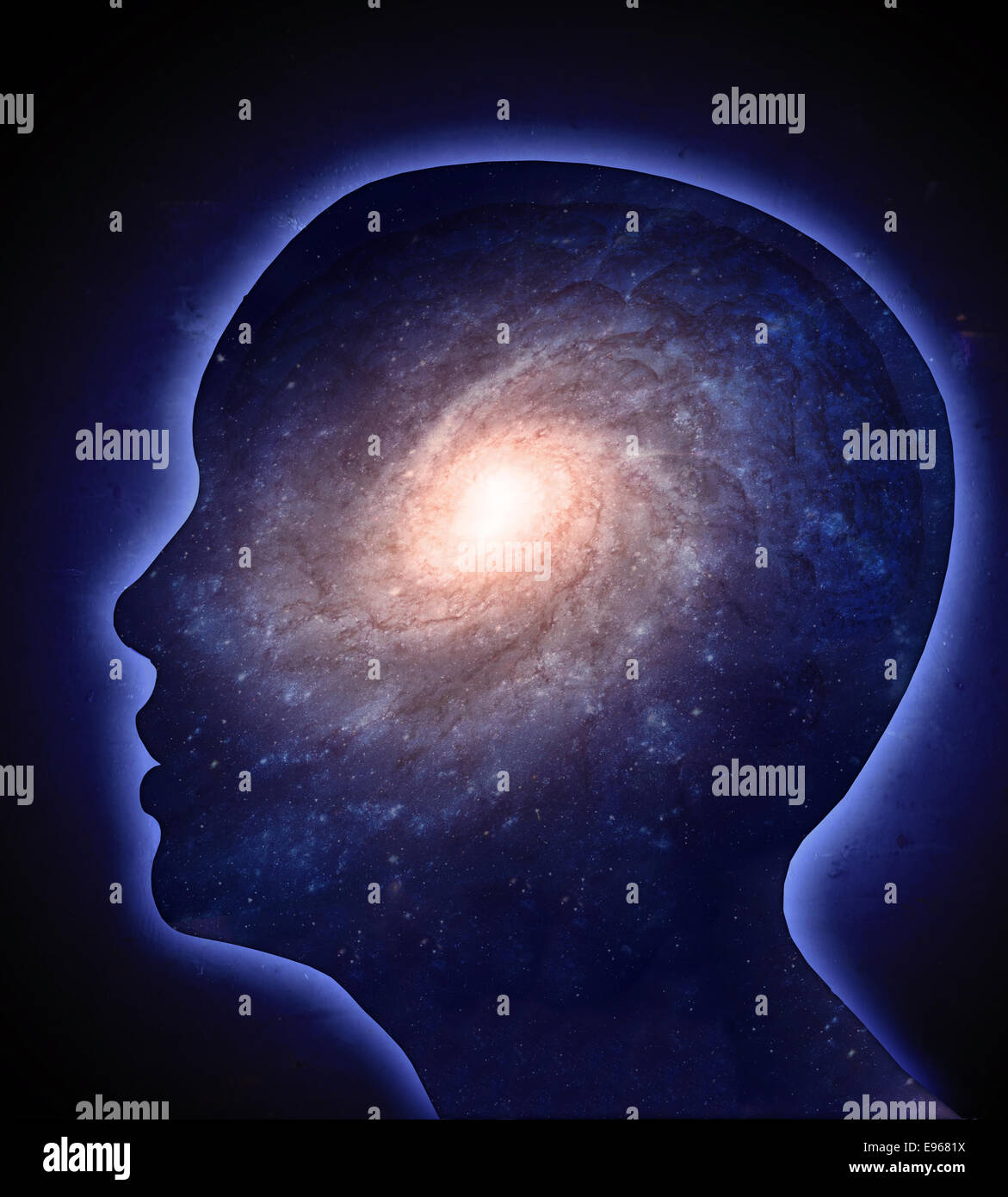 The human cognition concept illustration - Stock Image