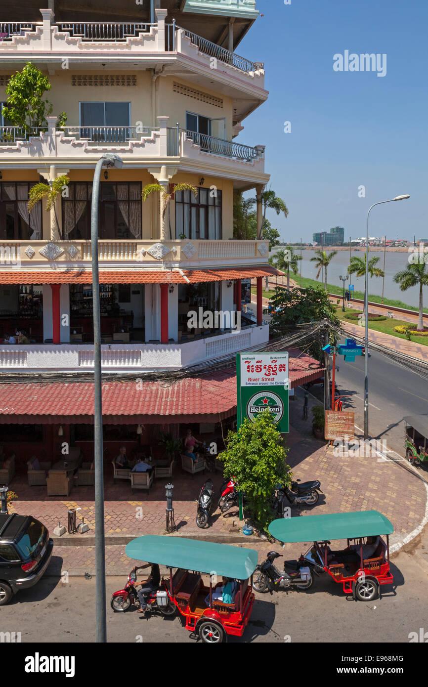 City streets, Phnom Penh, Cambodia - Stock Image