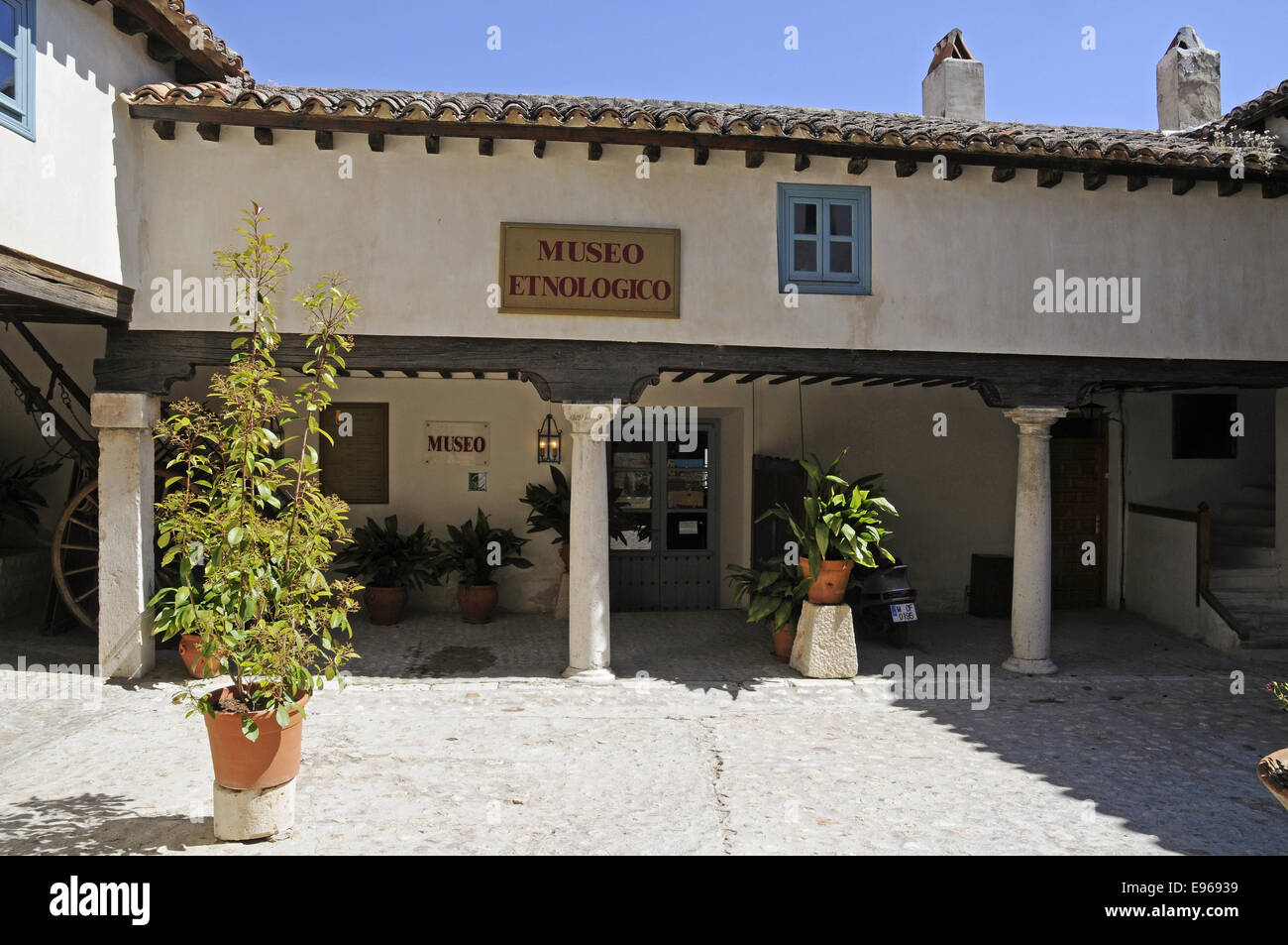 Ethnological Museum, Chinchon, Spain - Stock Image