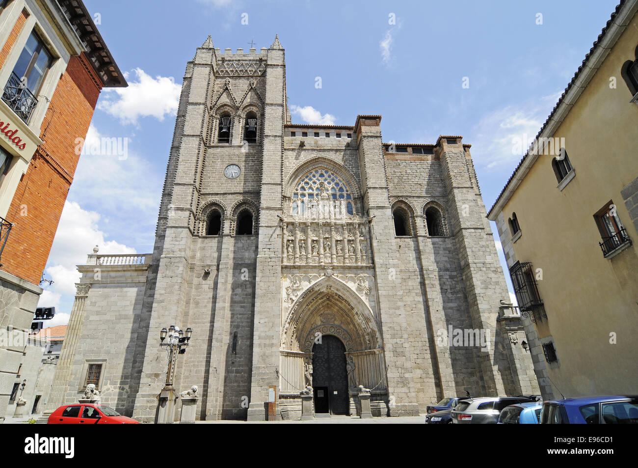 cathedral, Avila, Castile-Leon, Spain - Stock Image