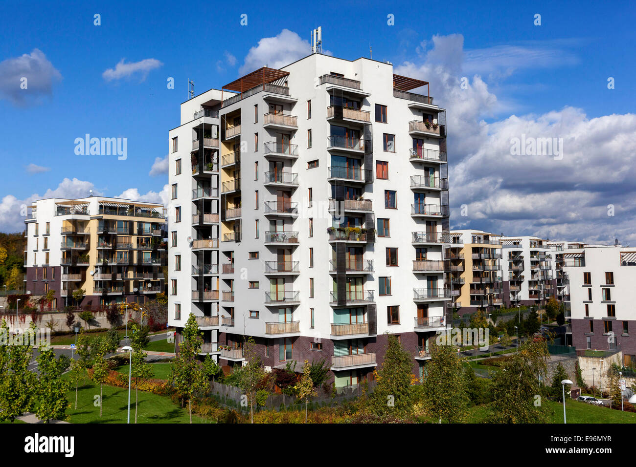 Newly built apartments in housing estates Jarov, Prague ...