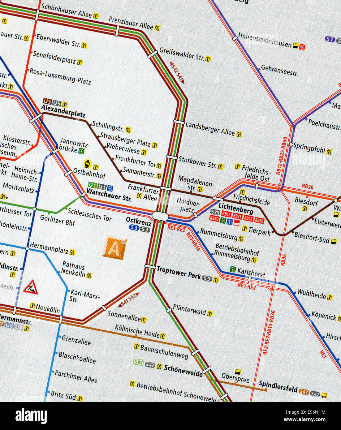 Central Germany Map.Berlin Germany May 11 2014 Close Up Map Of Central Berlin