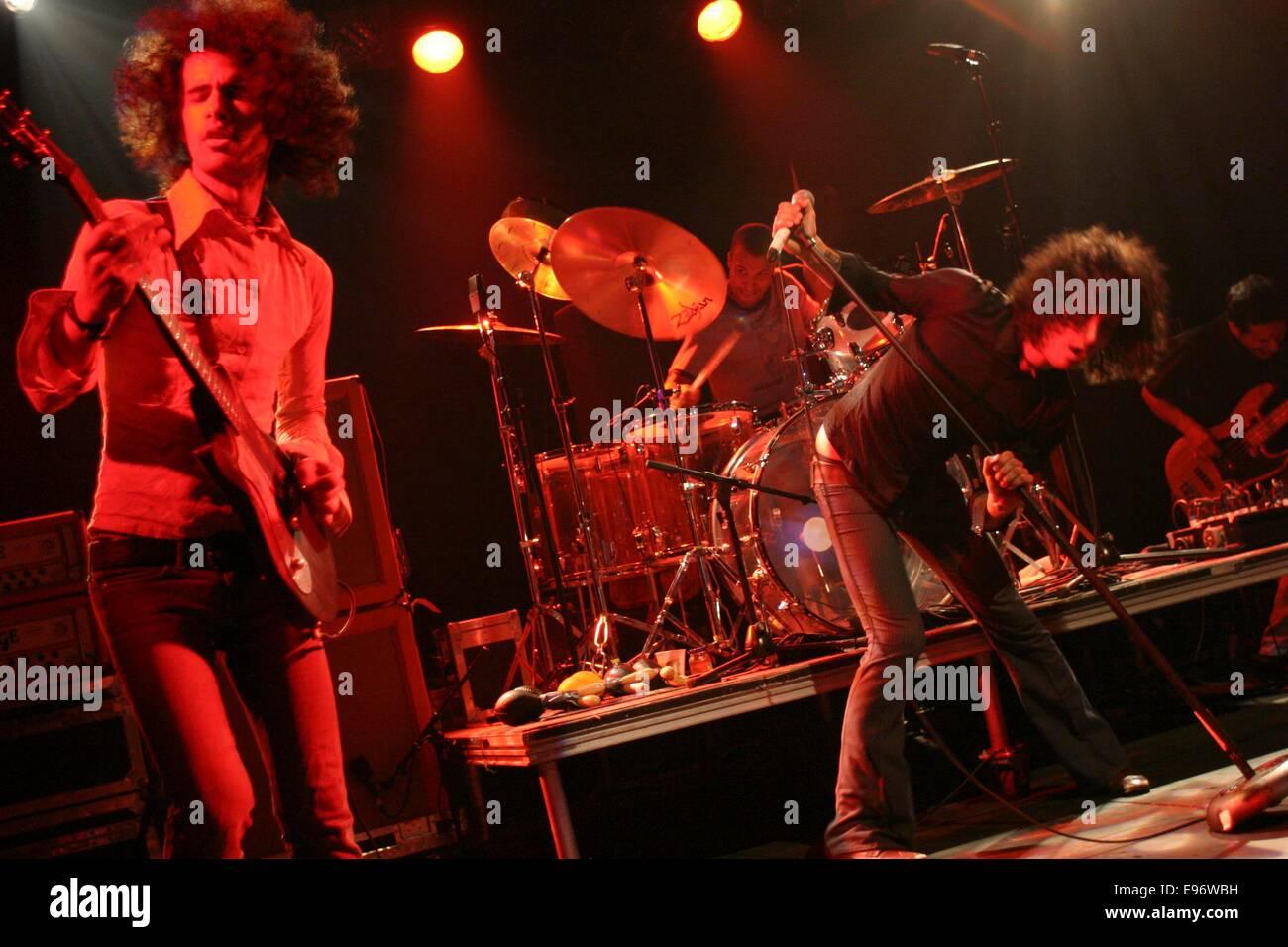 'Mars Volta',  T In The Park music festival, Balado, Scotland, 2003. - Stock Image