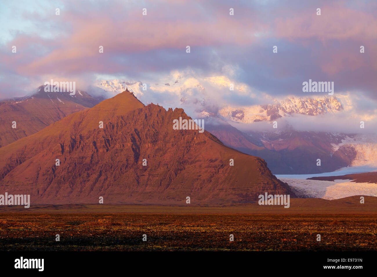 Vatnajokull National Park, Iceland - Stock Image