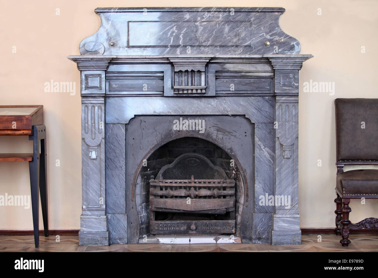 old fireplace - Stock Image