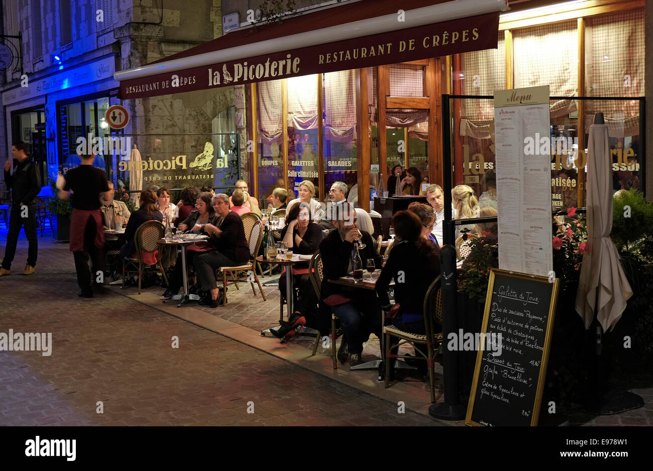 restaurant in chartres, france - Stock Image
