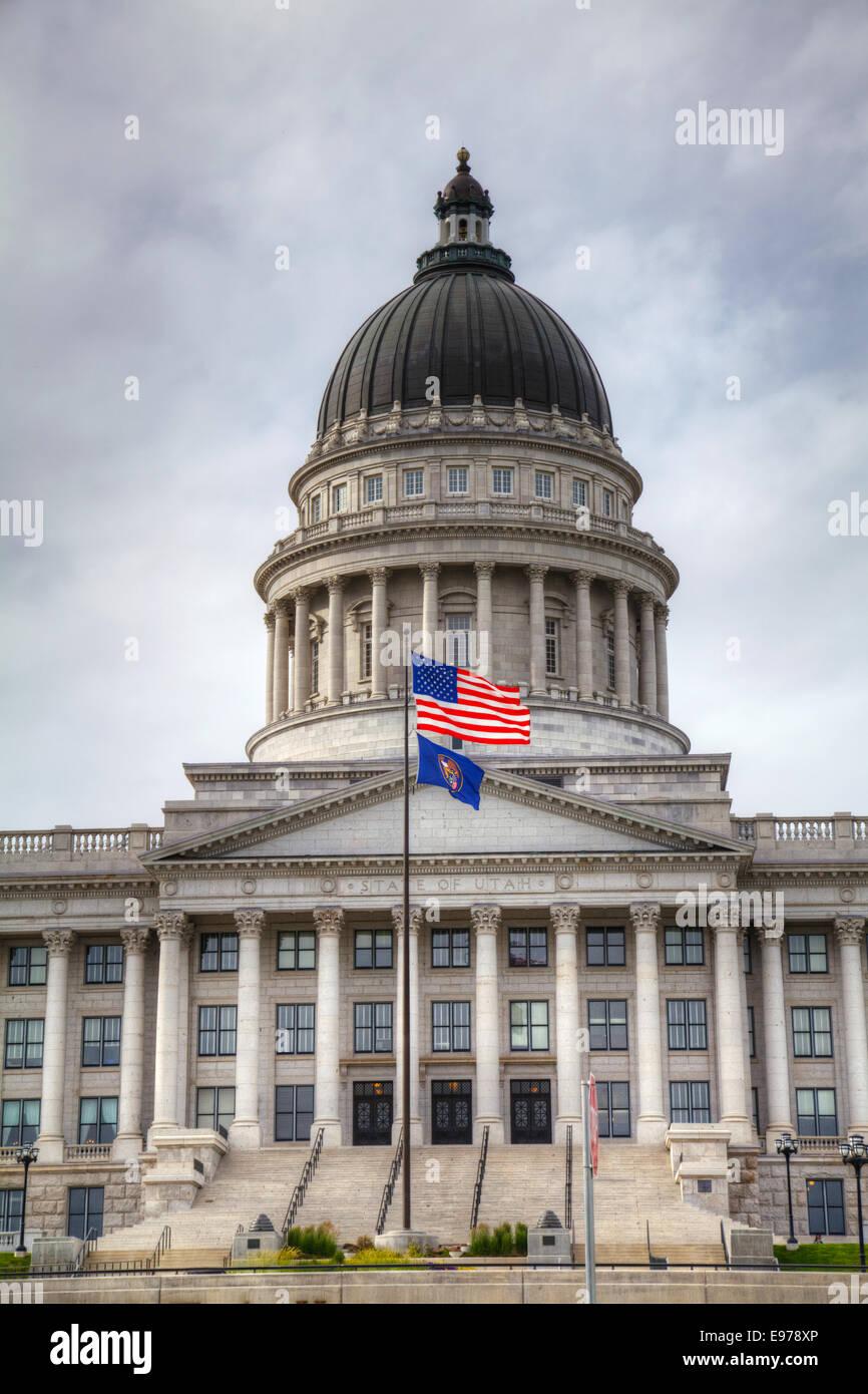 Capitol building in Salt Lake City, Utah - Stock Image
