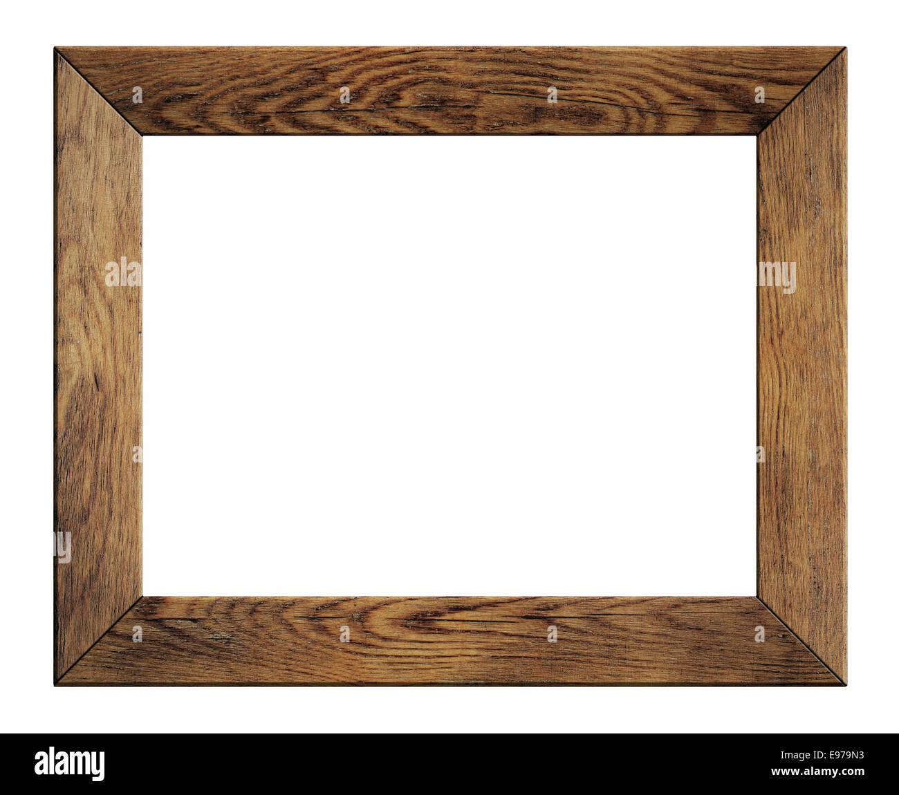 old wood frame isolated - Stock Image