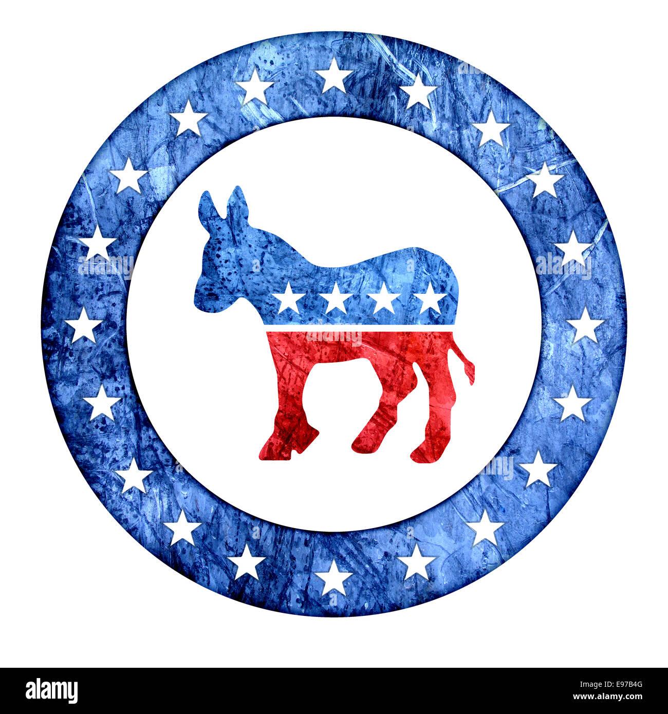 Democratic Donkey Icon - Stock Image