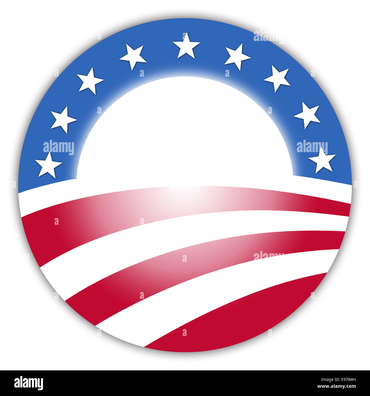 Obama Button - Stock Image