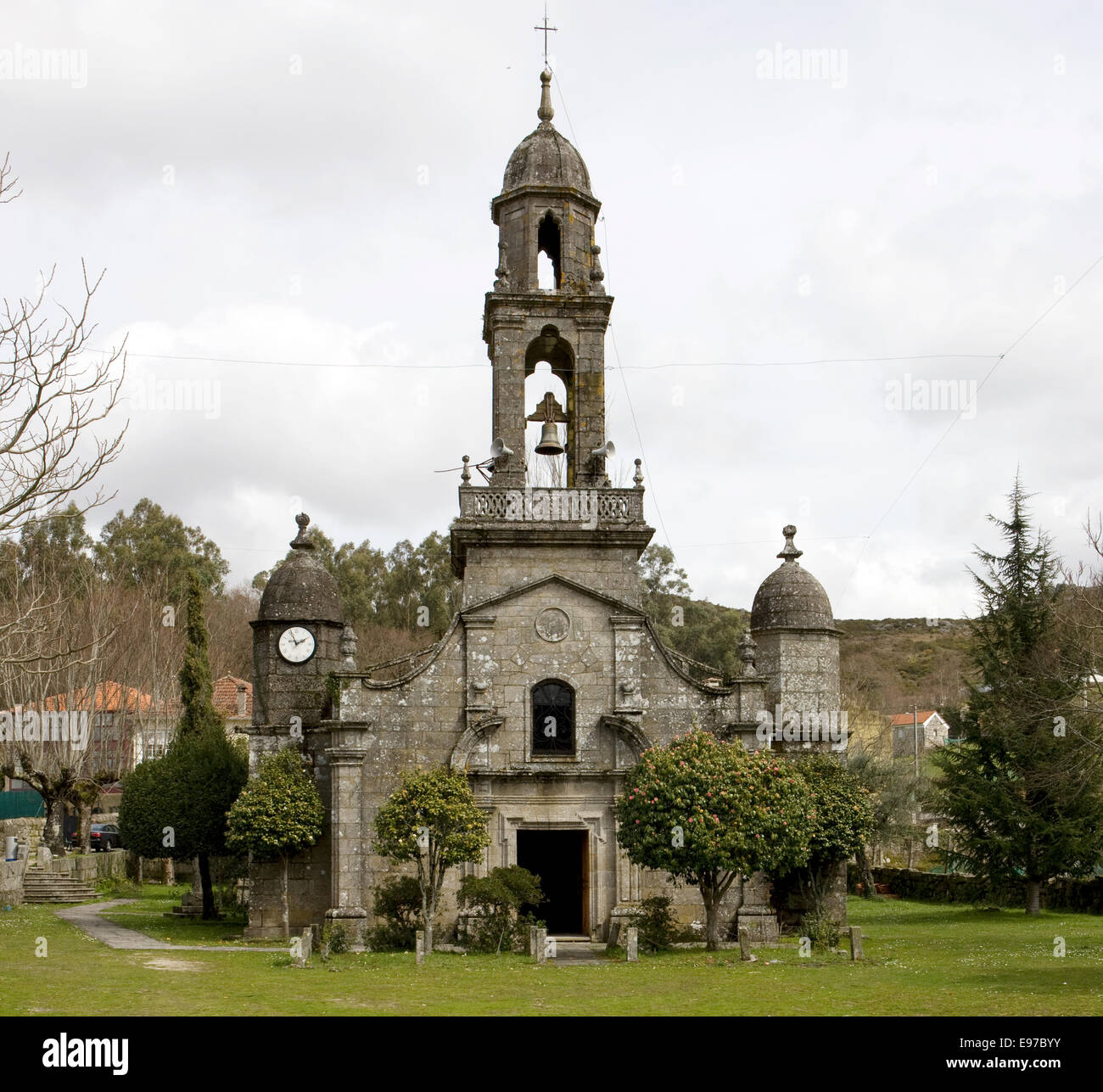 Old church in Galicia, Spain - Stock Image