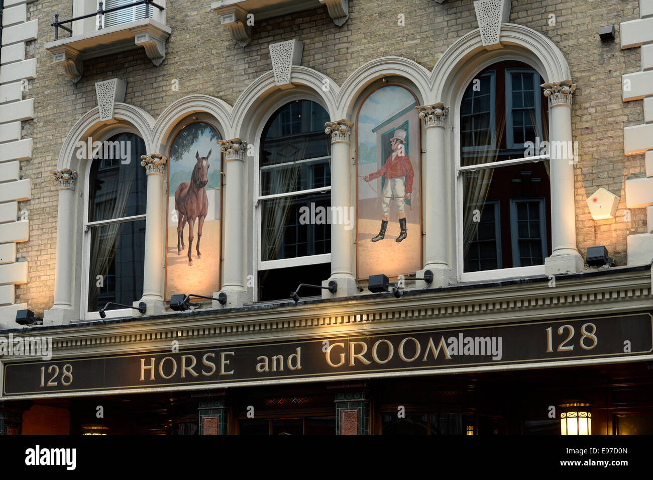 Horse and Groom Public House, 128 Great Portland Street, London, England, UK. - Stock Image