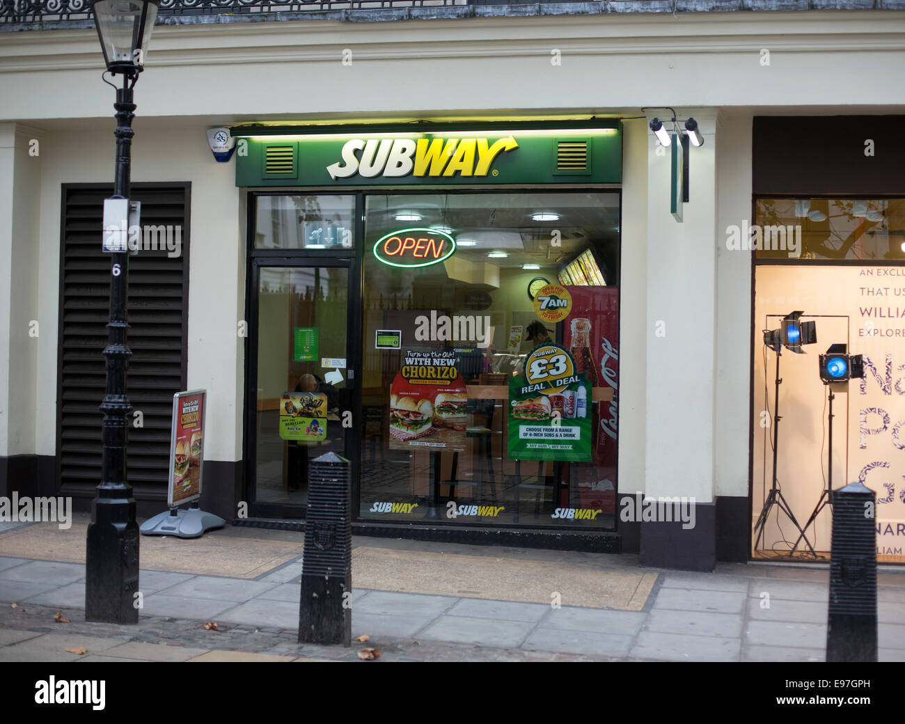 Subway fast food restaurant central London sandwich - Stock Image