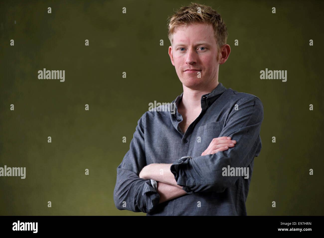 Writer Colin Barrett appears at the Edinburgh International Book Festival. - Stock Image