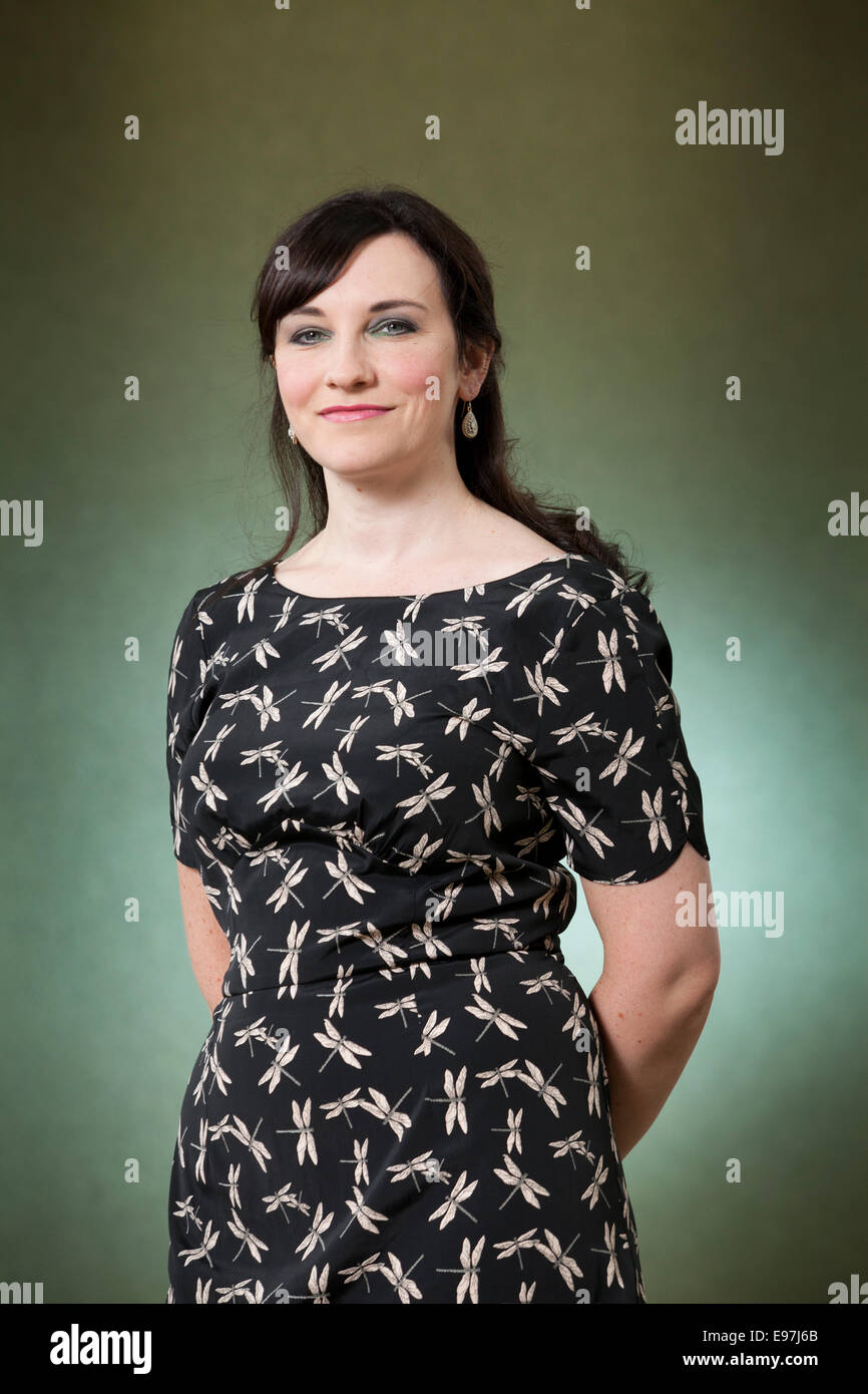 Michelle Harrison, author, at the Edinburgh International Book Festival 2014. Edinburgh, Scotland. 16th August 2014 - Stock Image