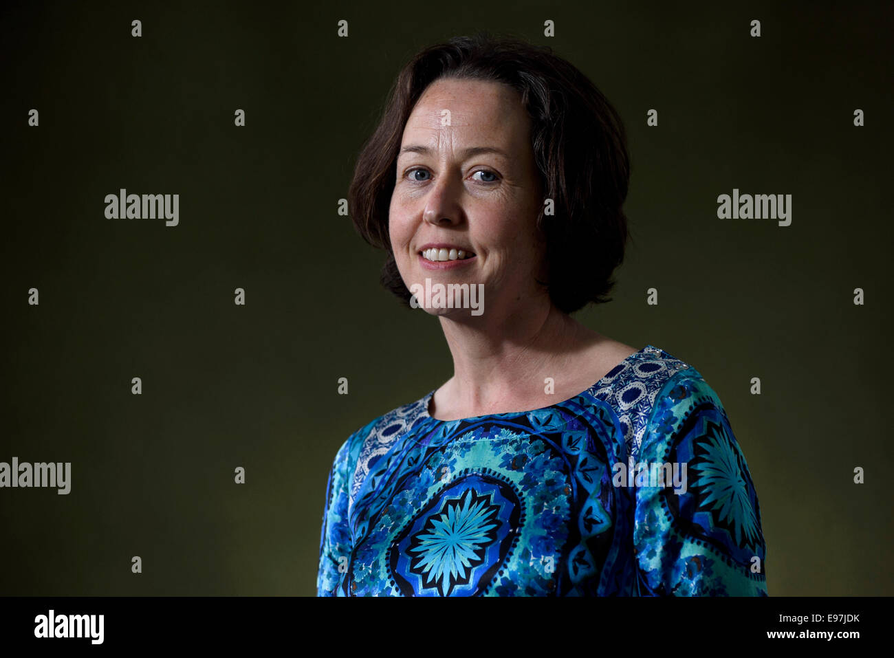 Irish author, writer, novelist and journalist Audrey Magee appears at the Edinburgh International Book Festival. - Stock Image