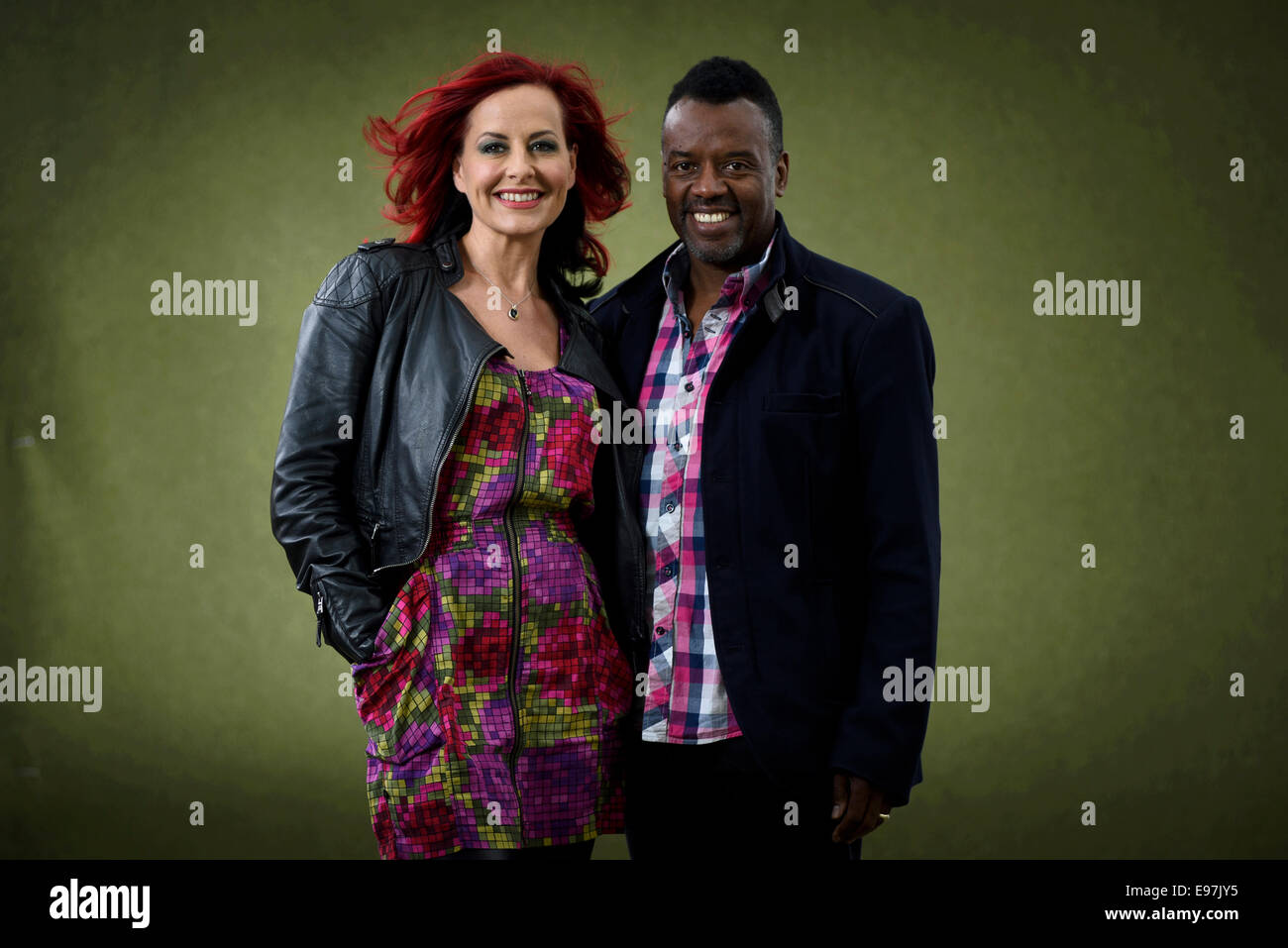 Vocal Coaches, judges and TV presenters David and Carrie Grant appear at the Edinburgh International Book Festival. - Stock Image