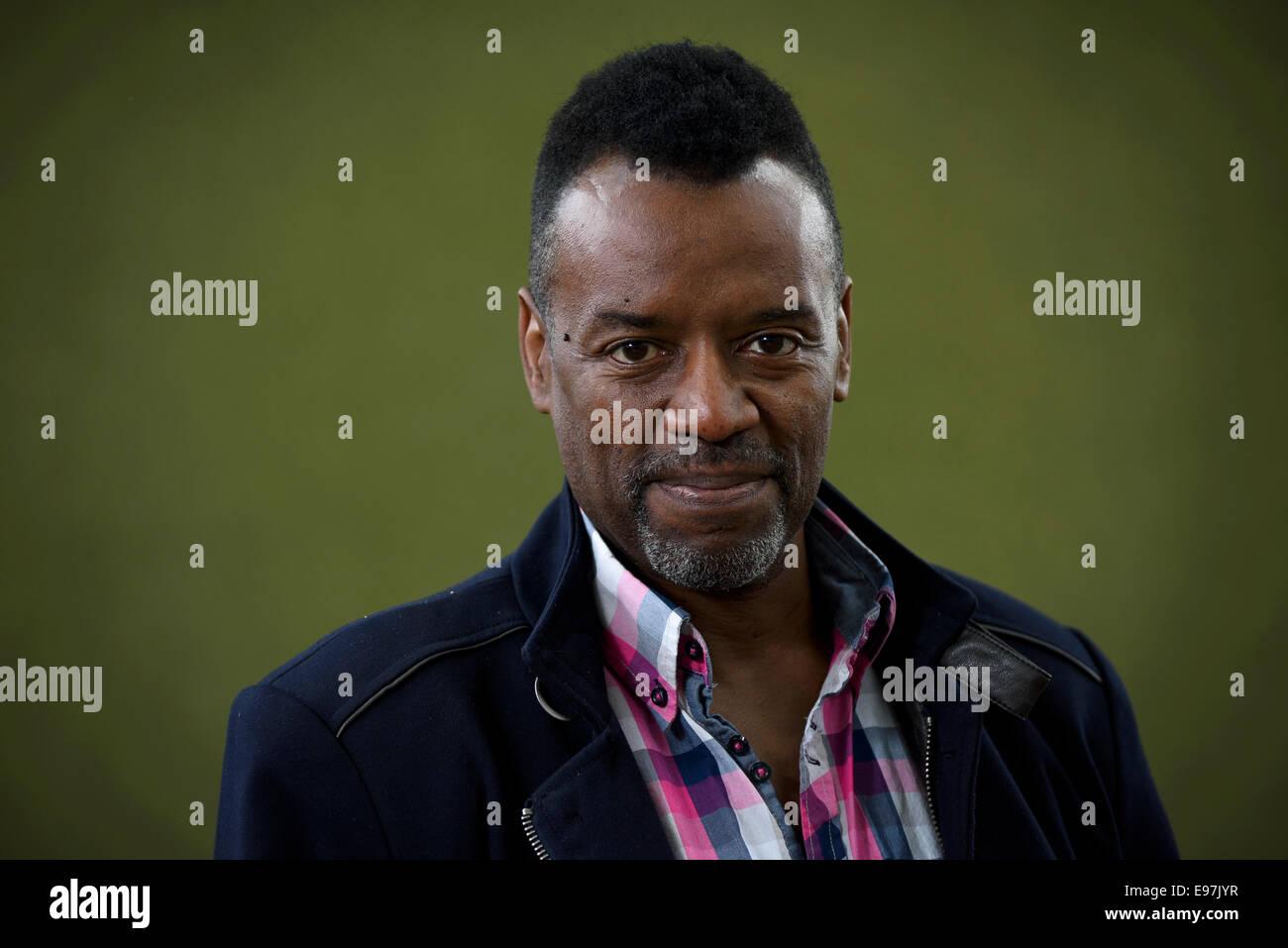 Vocal Coach, judge and TV presenter David Grant appears at the Edinburgh International Book Festival. - Stock Image