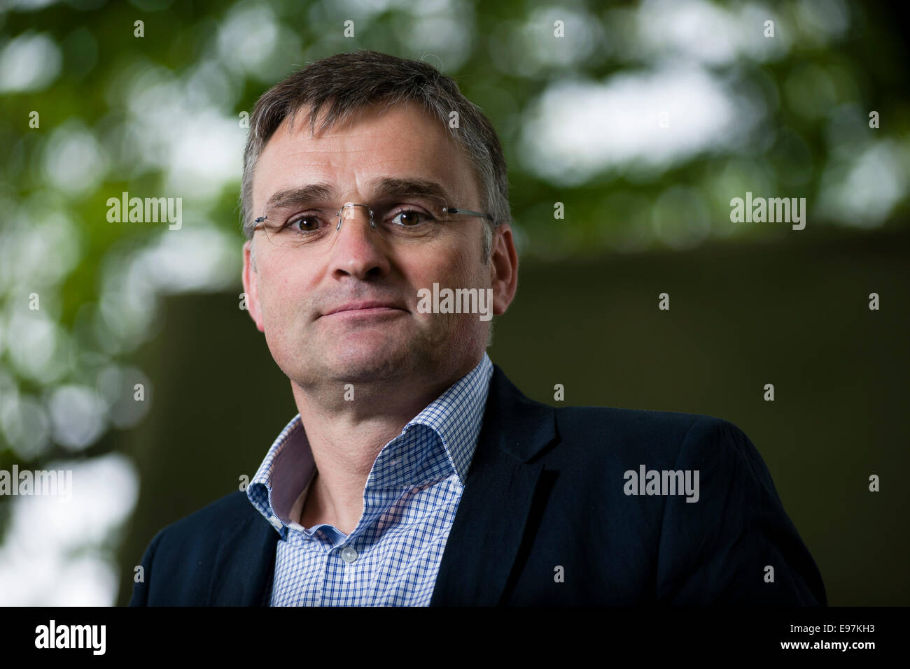 Political journalist Stefan Kornelius appears at the Edinburgh International Book Festival. - Stock Image