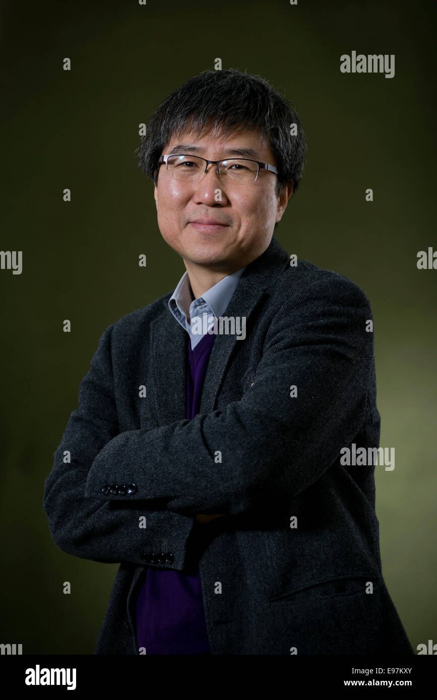 South-Korean economist Ha-Joon Chang appears at the Edinburgh International Book Festival. - Stock Image