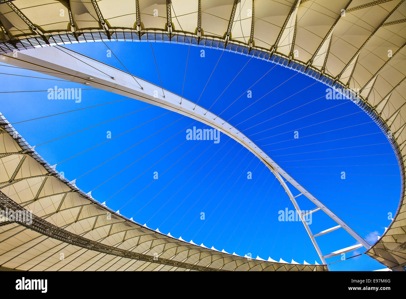 South Africa World Cup 2010, the Moses Mabhida stadium of Durban, capacity 70.000 - Stock Image