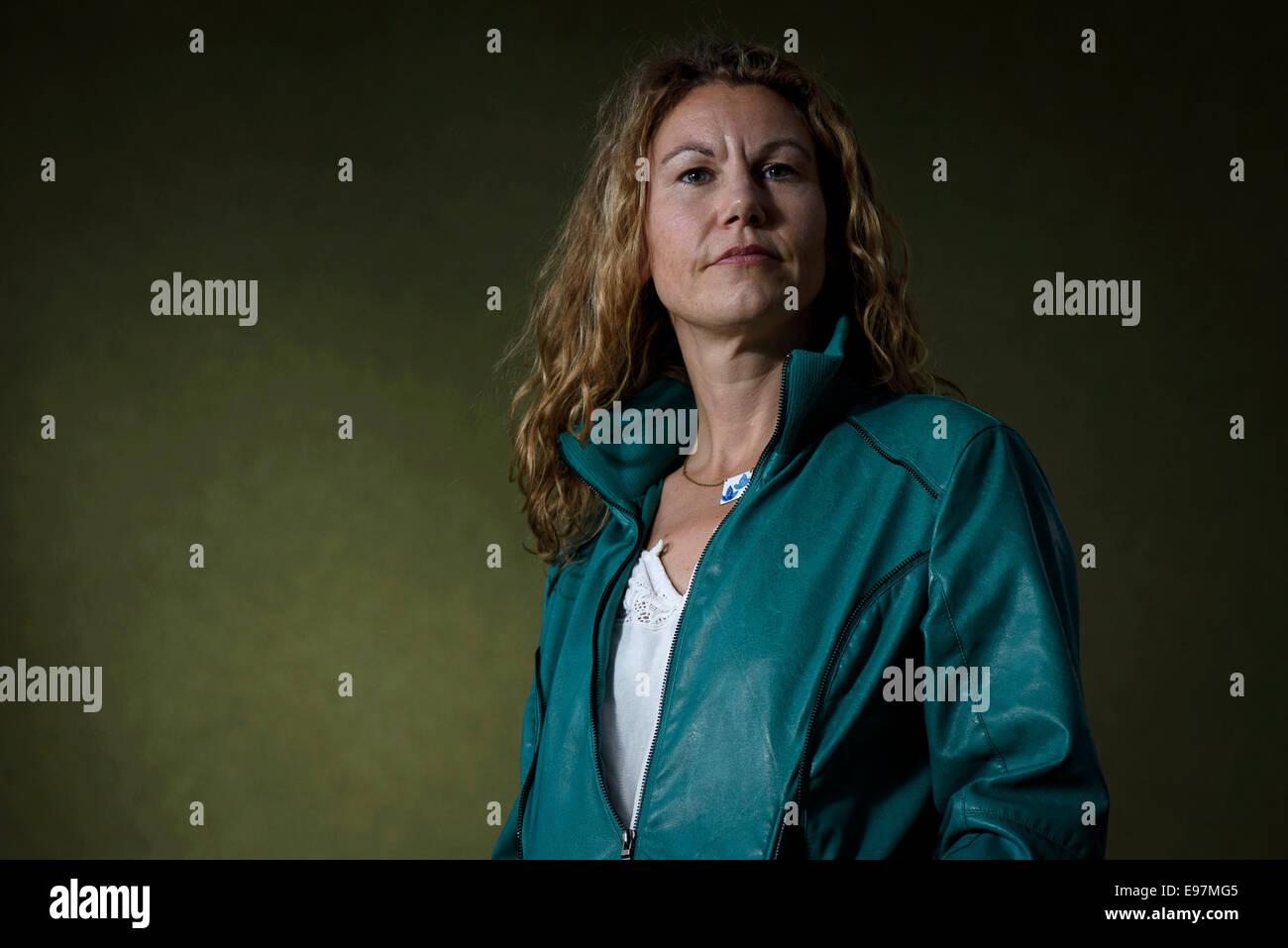 Scottish writer and poet Kate Tough  appears at the Edinburgh International Book Festival. - Stock Image