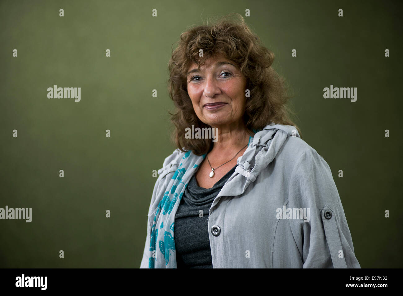 British writer, novelist, and campaigner for free expression Lisa Appignanesi at the Edinburgh International Book - Stock Image