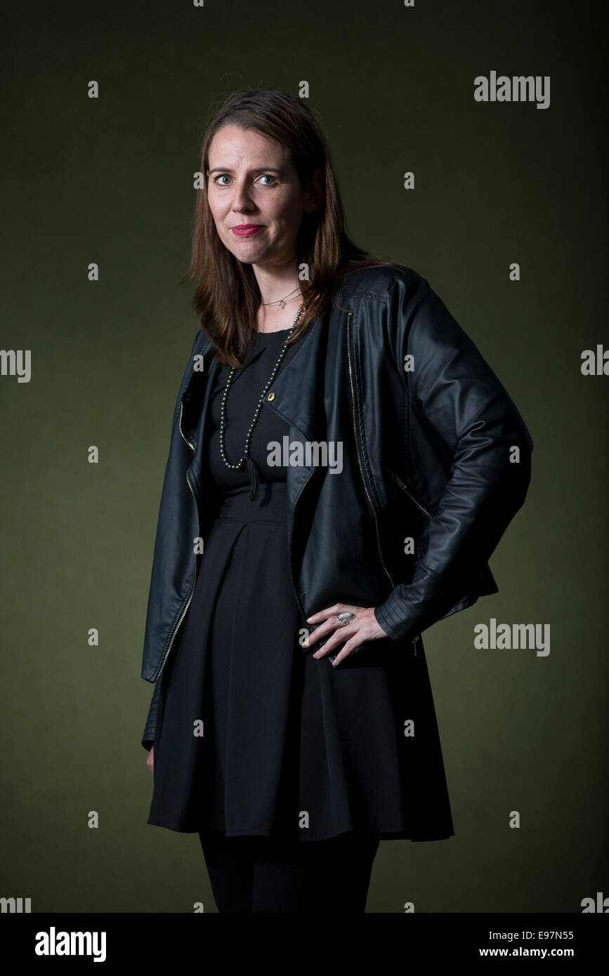 Author Lisa O'Donnell appears at the Edinburgh International Book Festival. - Stock Image