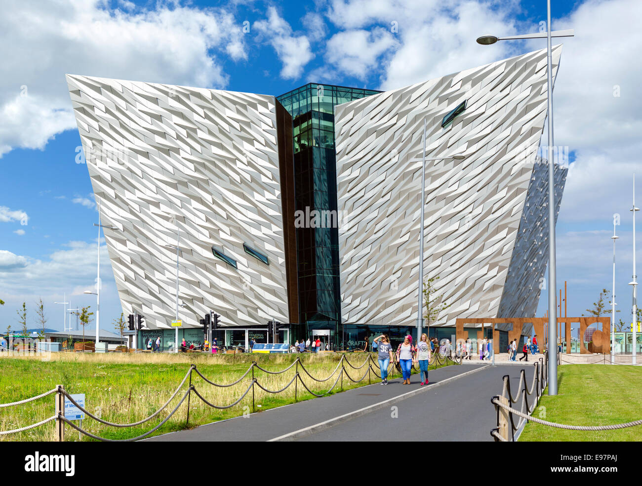 Titanic Belfast museum, Titanic Quarter, Belfast, Northern Ireland, UK Stock Photo