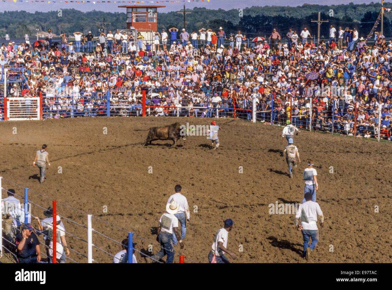ANGOLA, LA – JANUARY1:  The annual Angola Prison Rodeo is held in Angola, Louisiana in January 01, 1995. - Stock Image