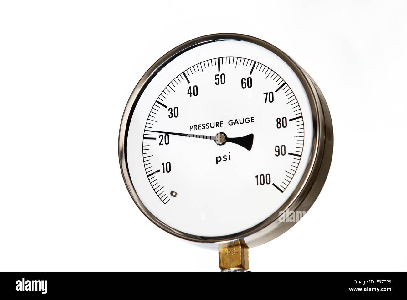 An industrial pressure gauge - Stock Image