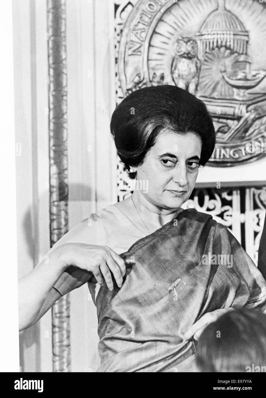 Indira Gandhi, Prime Minister Indira Gandhi of India - Stock Image