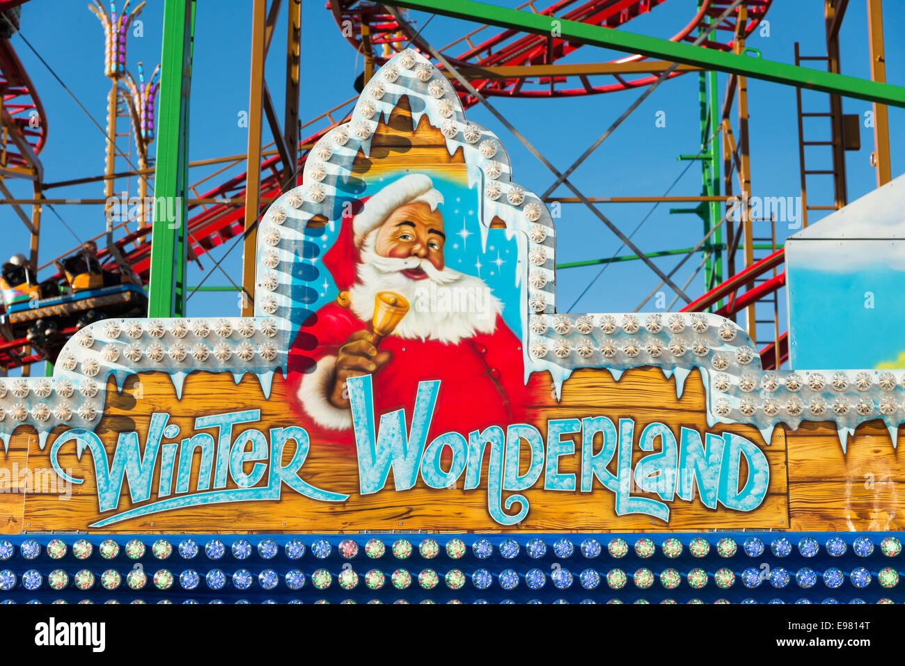 Christmas funfair at Winter Wonderland, Hyde Park, London, England, UK Stock Photo