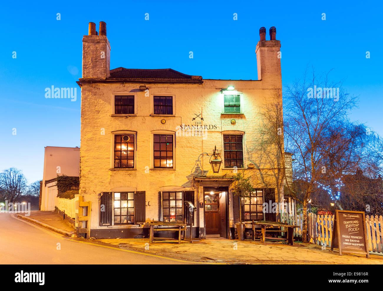 The Spaniards Inn, Hampstead, London, England, UK - Stock Image