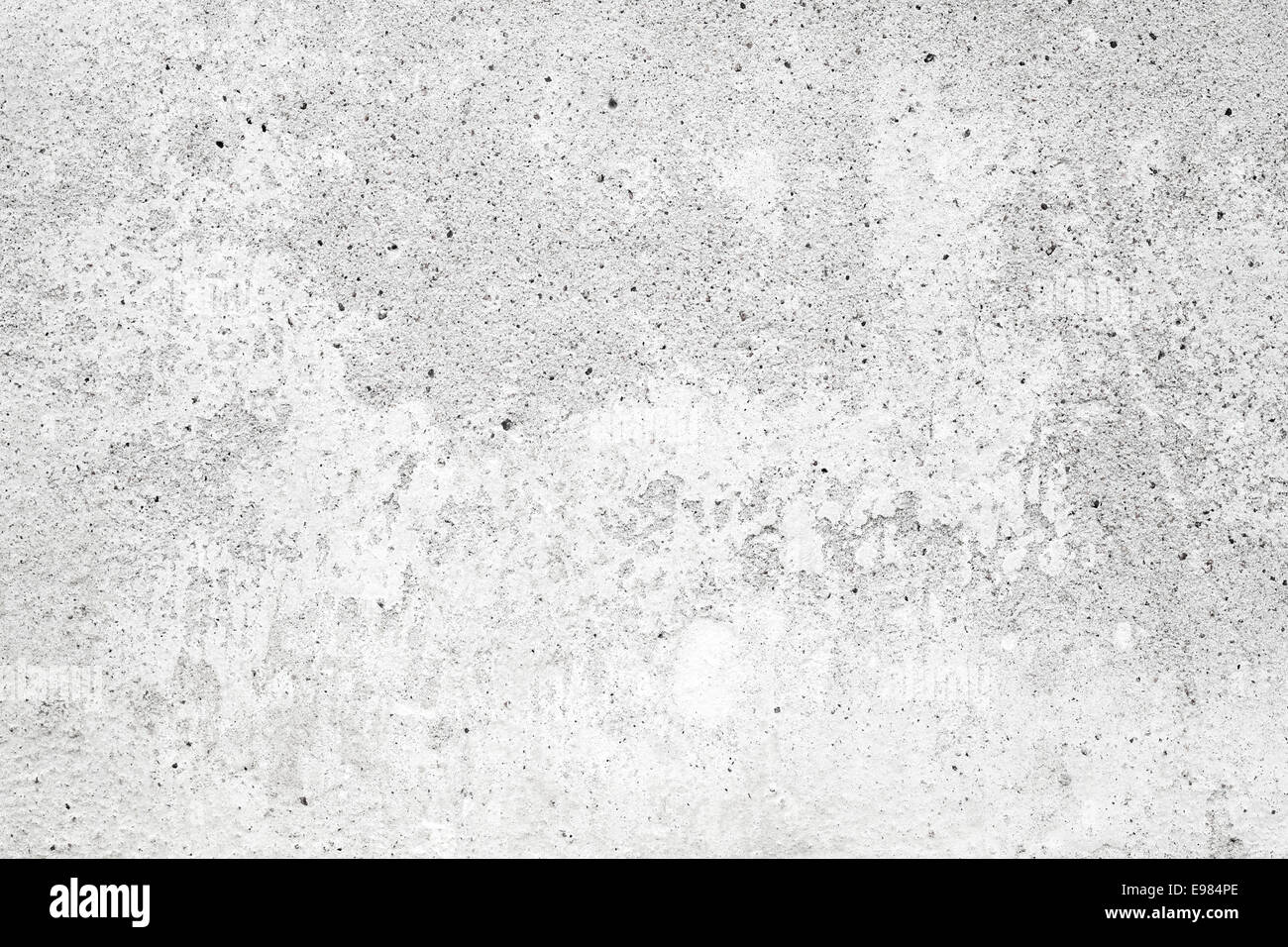 White concrete wall with stucco and paint background texture Stock
