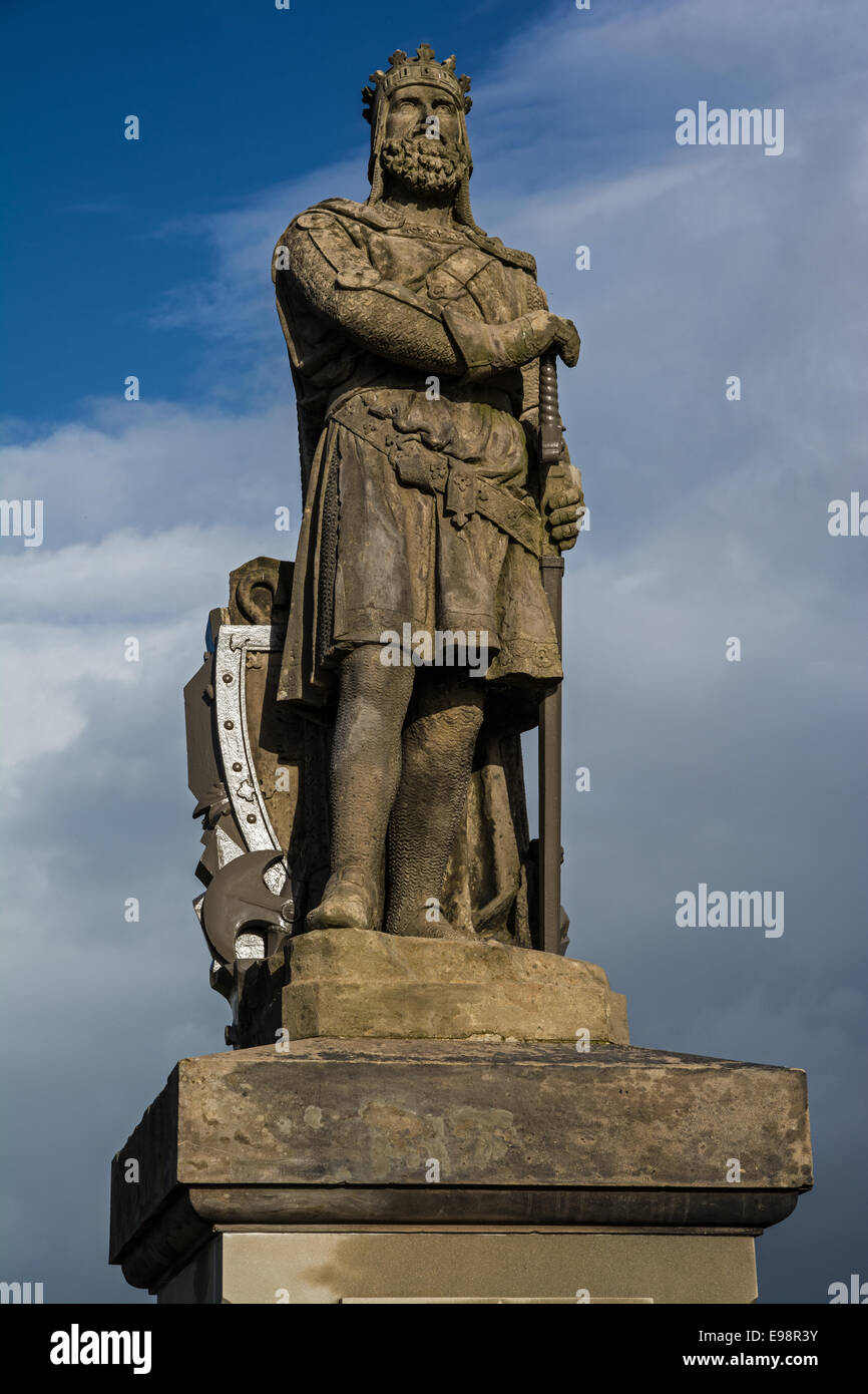 Robert The Bruce Statue, Stirling Castle - Stock Image