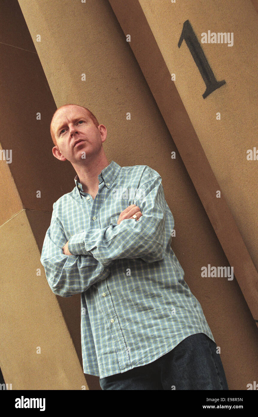 Alan McGee of Creation Records, the man who signed Primal Scream and Oasis, in Glasgow, Scotland - Stock Image