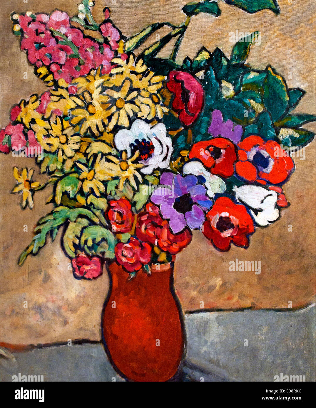 Anemones 1921 Louis Valtat France French - Stock Image