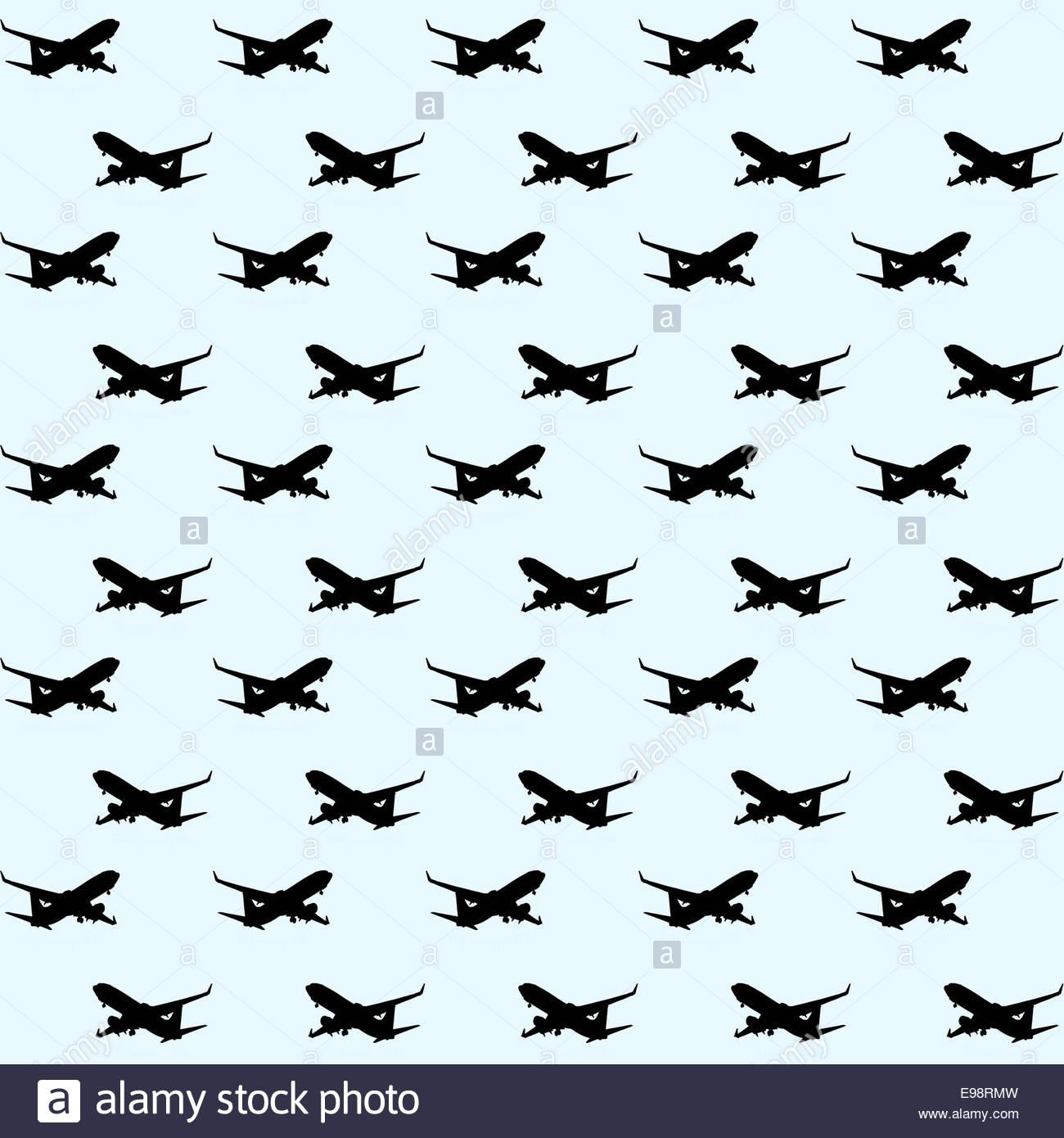 Digital illustration - concept - airliner wallpaper - Stock Image