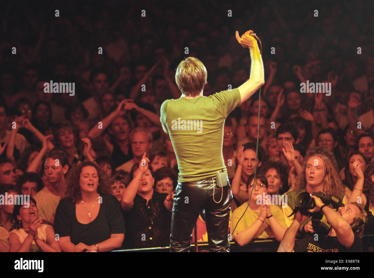 Canadian Bryan Adams in concert at Glasgow SECC, in Glasgow, Scotland, in 1996. - Stock Image