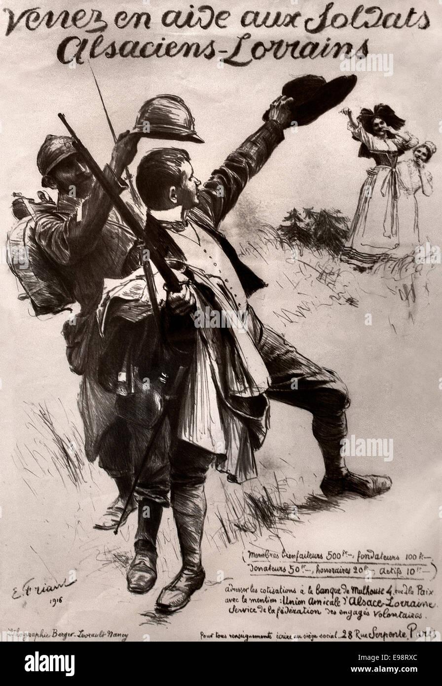 L` Engagé volontaire alsacien - volunteer Alsatian 1916 Émile Friant 1868-1932 France French - Stock Image