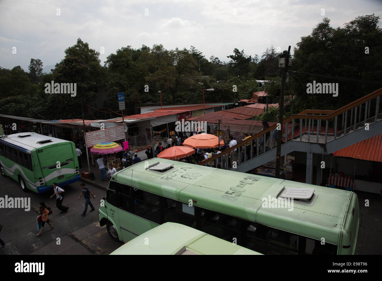 View from Metro Universidad  station,Mexico city,Mexico - Stock Image