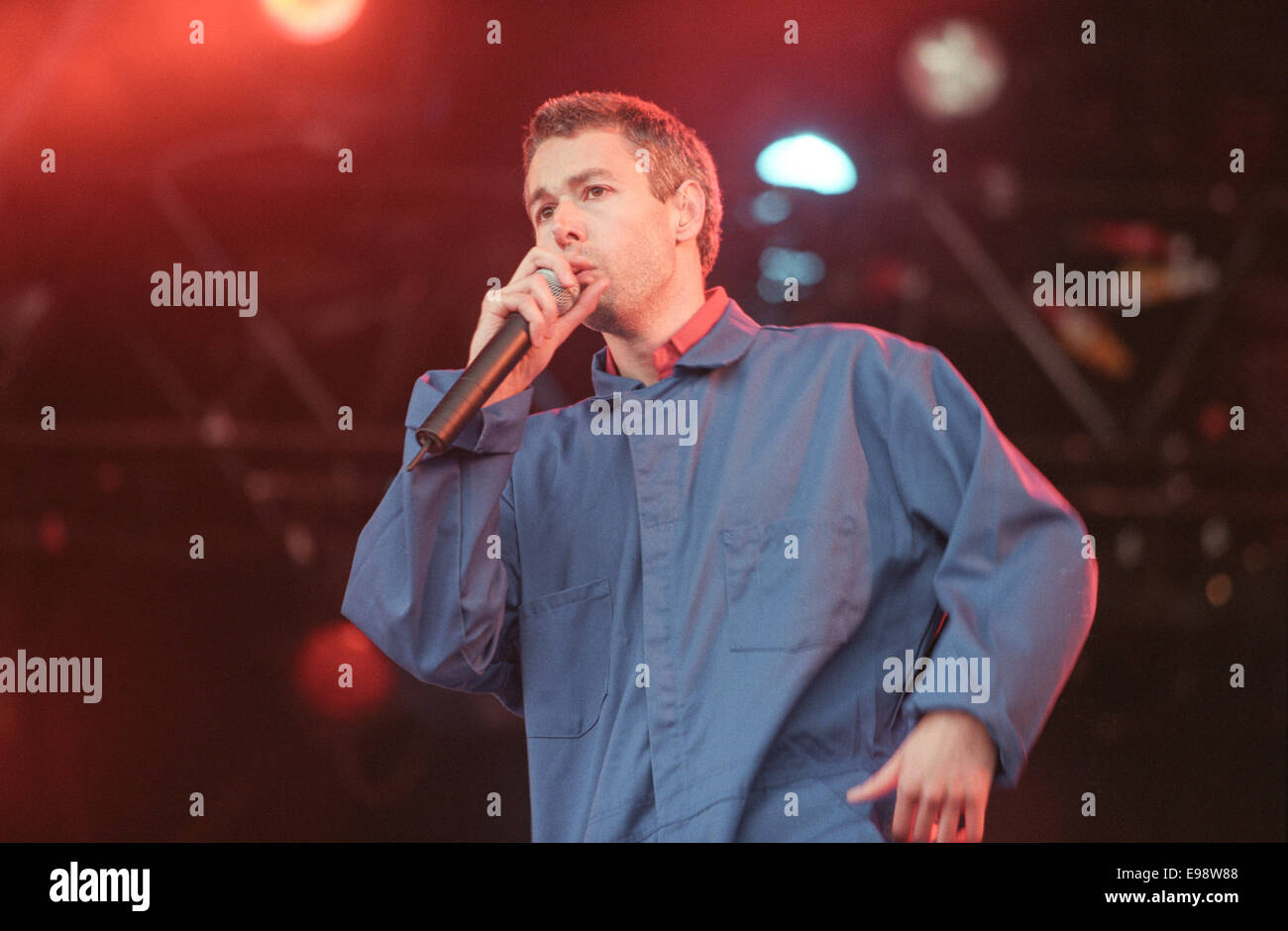 The Beastie Boys on stage in concert at T In The Park music festival, in Scotland, in 1998. Stock Photo