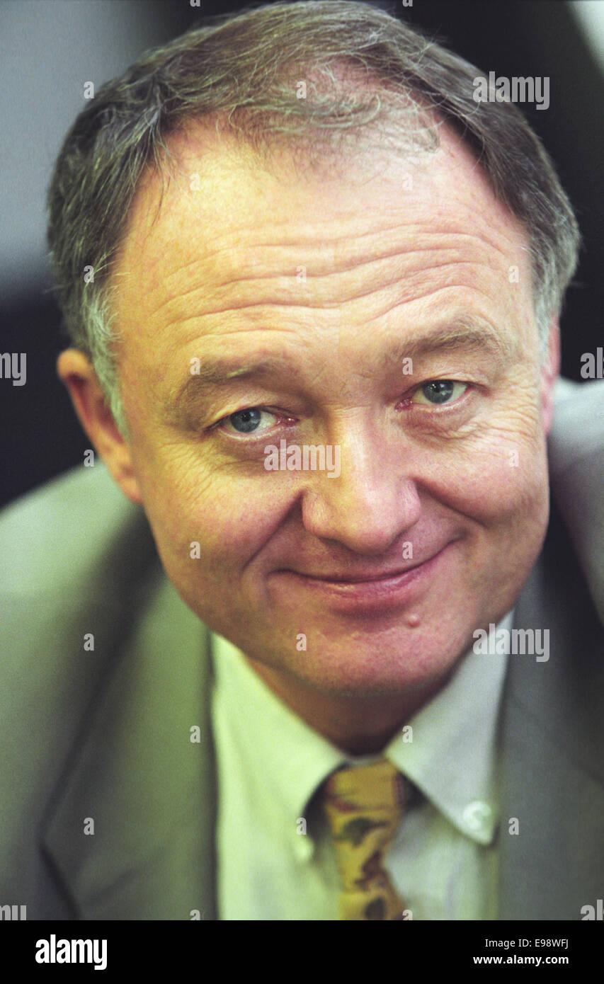 Ken Livingstone, former Mayor of London, in Scotland. 1998. - Stock Image