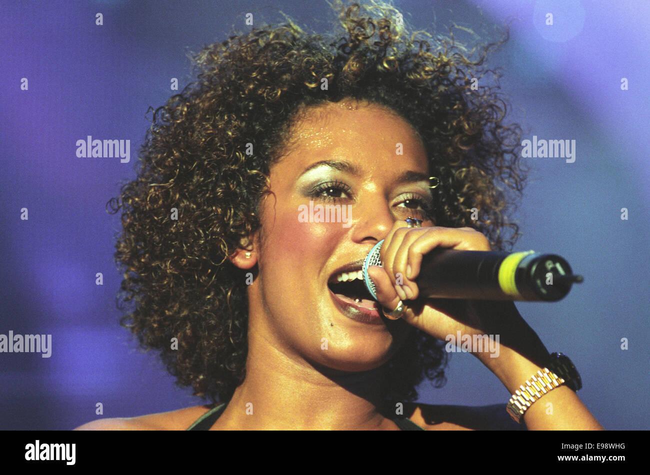Spice Girls in concert at Glasgow SECC, in Glasgow, Scotland, in 1998. - Stock Image