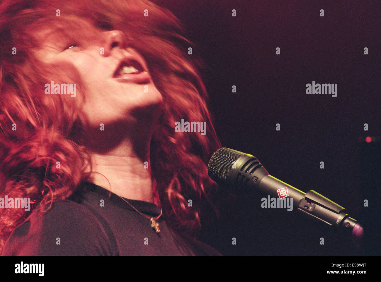 Tori Amos in concert in Glasgow, Scotland, in 1998 Stock Photo