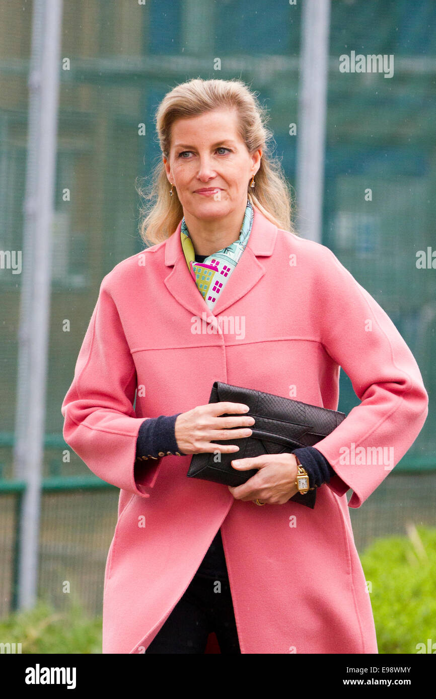 Sophie Countess of Wessex visiting the Tim Parry & Jonathan Ball centre in Warrington - Stock Image