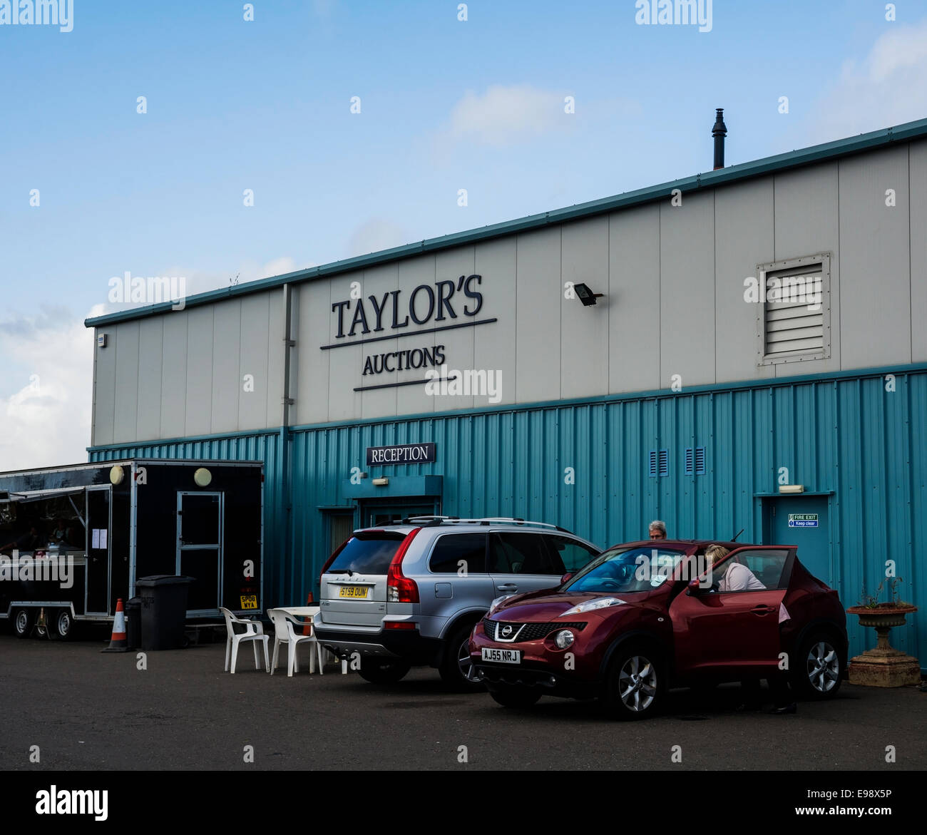 Taylor's Auctioneers have a purpose built facility in Montrose. - Stock Image